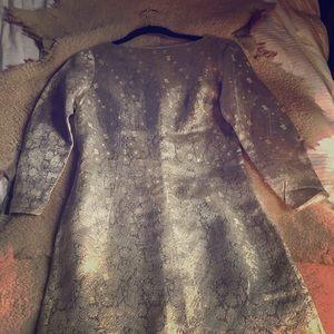 Vintage silk faille 1950's Dress